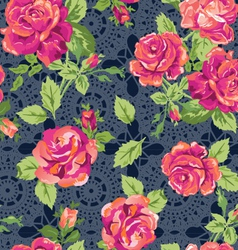 Classic lace roses vector
