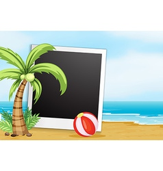 Frame with beach background vector image