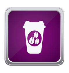 purple emblem coffee espresso icon vector image