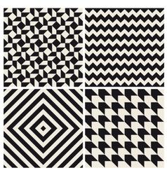 seamless pattern background set retro vintage vector image vector image