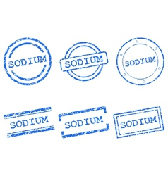 Sodium stamps vector image vector image