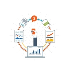 Financial report consulting teamwork management vector image