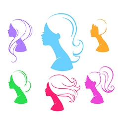 Womans silhouette vector image