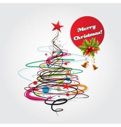 Abstract christmas celebration card vector