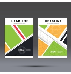 Brochure template with abstract square design vector image