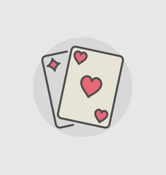 playing cards colored icon vector image