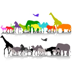 silhouette of safari animal wildlife vector image vector image