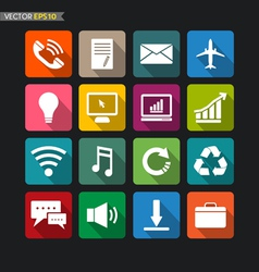 Website icons collection set 3 vector image