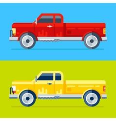 4 pickups vector image