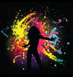 grunge female vector image vector image