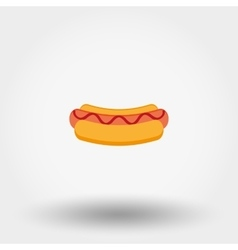 Hot dog icon vector image vector image