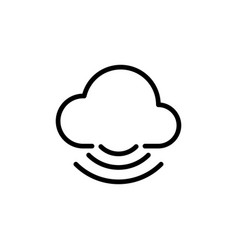 line cloud icon on white background vector image vector image