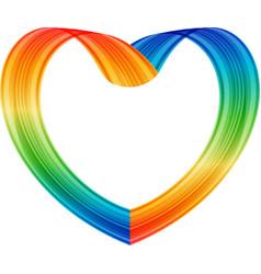 Multicolored heart vector