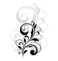 Pretty swirling foliate design element vector image