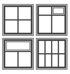window icon set sign symbol vector image vector image