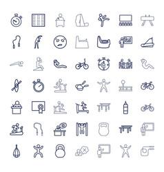 49 training icons vector