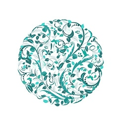 abstract circular pattern of floral vector image