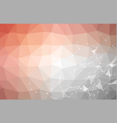 abstract red white polygonal space background vector image