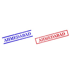 Ahmedabad textured scratched stamp seals vector