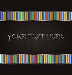blackboard background with colored pencil vector image