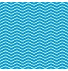 Blue seamless wavy pattern vector