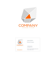 business template the vector image