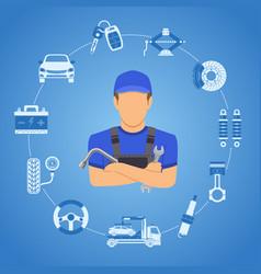car services concept vector image