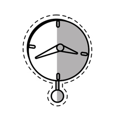 Clock time business money pendulum shadow vector