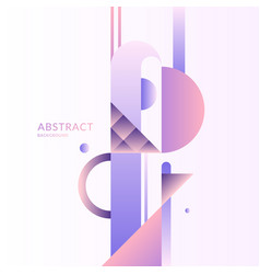 composition with dynamic and geometric shapes vector image