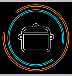 cooking pot - kitchen vector image