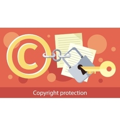 Copyright Protection Design Flat vector