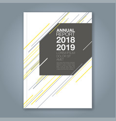 cover annual report 913 vector image