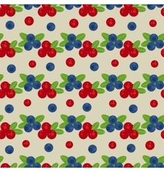 Cranberry and blueberry seamless pattern 3 vector image vector image