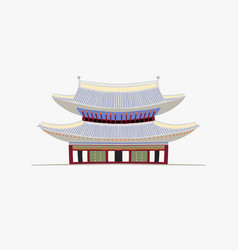 doodle flat pagoda in vector image