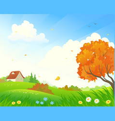 early autumn landscape vector image