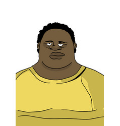 fat man in wide clothing portrait vector image