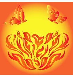 fire flower vector image
