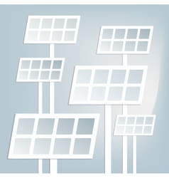 Flat solar battery vector image