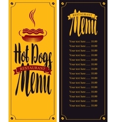 For fast food with hot dog vector