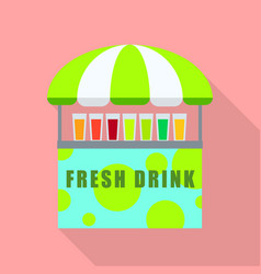 fresh drink shop icon flat style vector image