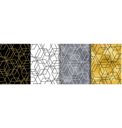 geometrical abstract seamless patterns set vector image