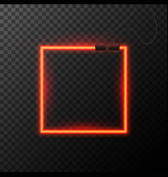 Glowing neon effect shining abstract square or vector