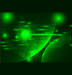 Green technology background abstract digital tech vector