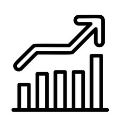 grow up graph icon outline style vector image