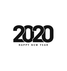 happy new year 2020 text design new year vector image