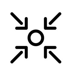 Here you are icon of point and four arrows vector