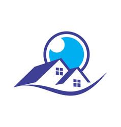 Home eye vision residence logo icon vector