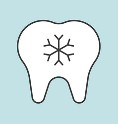 Hypersensitive teeth dental related icon filled vector