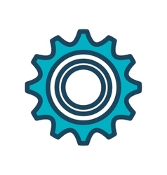 Icon gear team work design isolated vector