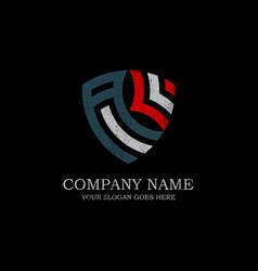 initial al letter logo inspiration vintage shield vector image